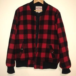 LEFT FIELD NYC - Woolrich Flannel Bomber Size L
